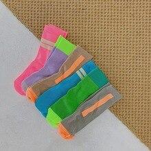 Kids Long Socks Tube Cotton Fluorescent Colors Leg Warmers Baby Socks Boys Girls Children Tube Socks Baby Knee High Socks 1-12Y