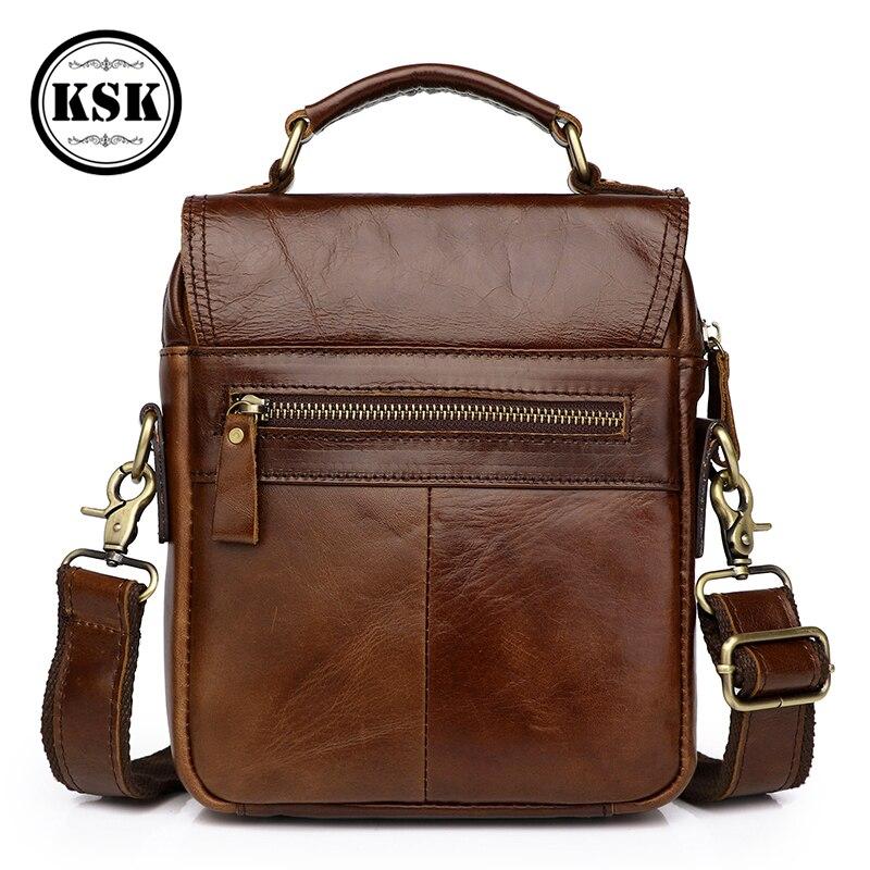 Sac en cuir véritable pour hommes sac à bandoulière pour hommes sac à main de luxe 2019 rabat de mode sacs à bandoulière pour hommes KSK - 4