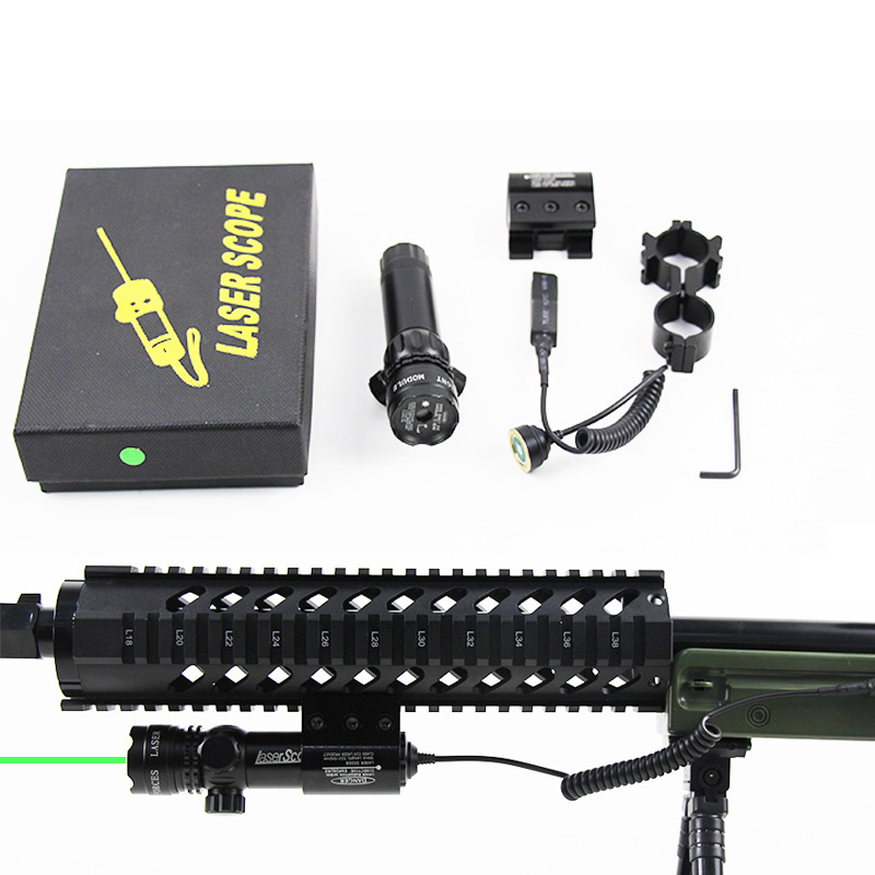 Tactical Outside Green Laser Red Dot Laser Sight Adjustable Switch Rifle Scope Mount For M4A1 AR 15 Ak47 74 <font><b>Hk</b></font> <font><b>416</b></font> Airsoft Rifle image