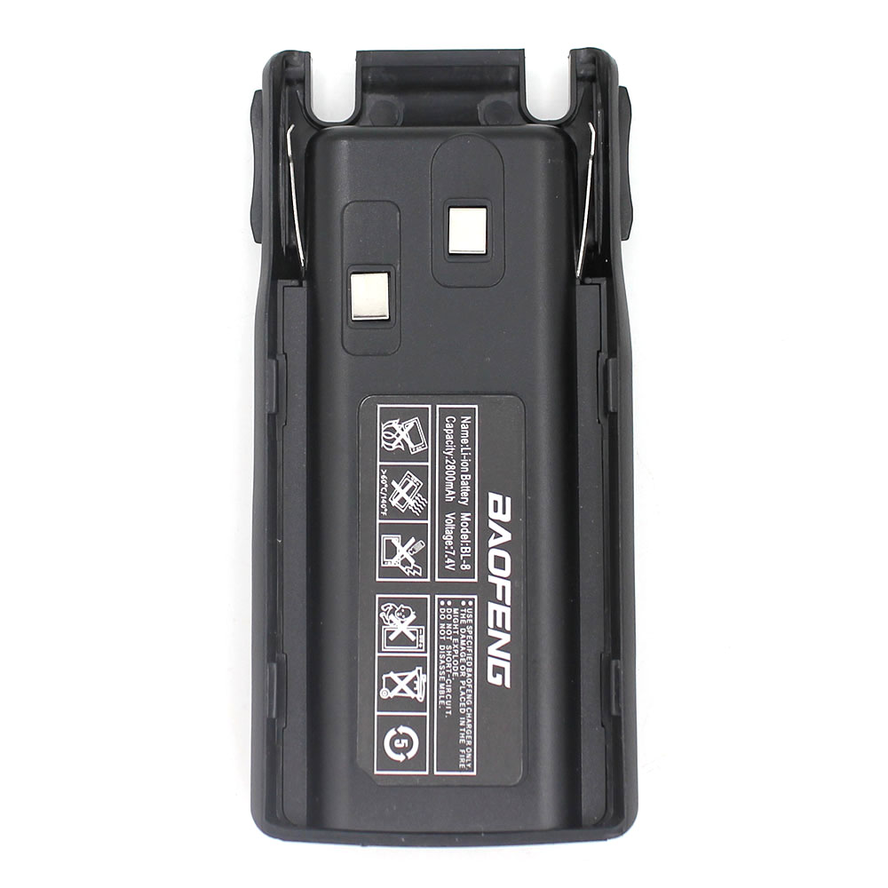 BaoFeng UV82 Walkie Talkie 7.4V 2800mAh Rechargeable Replacement Battery Pack For Baofeng UV-82 UV-82X UV-82C Two Way Radio