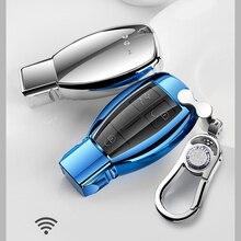 Nieuwe Auto Styling Zacht Tpu Autosleutel Cover Case Shell Voor Mercedes Benz C Klasse W205 Glc Gla Auto Accessoires beschermende Sleutel Tas