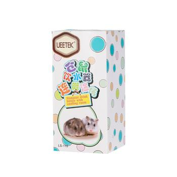 2 In 1 Hamster House Small Animal Hideout Pet Hideout Drinking Water Bottle With Plastic Base Hut Living Habitat For Hamster 5