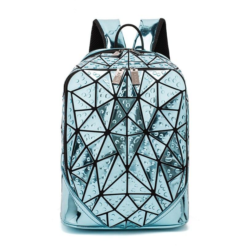 LOVEVOOK Women Backpack School Bags For Teenage Girls Large Capacity Foldable Geometric Bag Pack Laser Drop Backpack For Travel