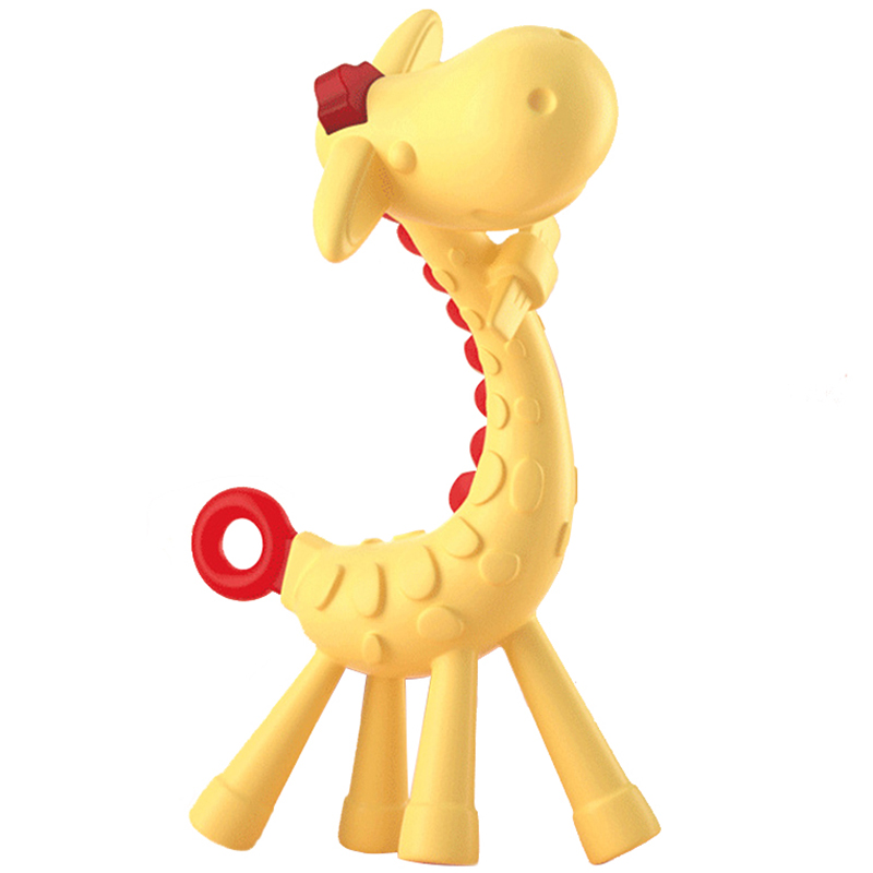 Baby Teether Baby Giraffe Teething Stick Toddle Silicone Banana Teething Baby Care Toothbrush for Baby Infant Teether Molar Rod image