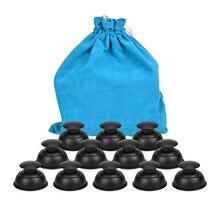 12 pçs silicone vácuo massagem ventosa vácuo cupping dispositivos corpo massageador desumidificação latas de vácuo médico chinês