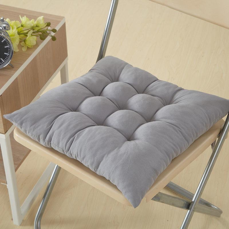 Solid Color Cushion Pillow Modern Soft Dinning Chair Cushions Office Chair Seat Pad 5 Sizes Thicken Sofa Cushion Mat Home Decor