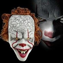 Стивен Кинг это маска Pennywise ужас клоун Джокер маска клоуна Хэллоуин косплей костюм реквизит