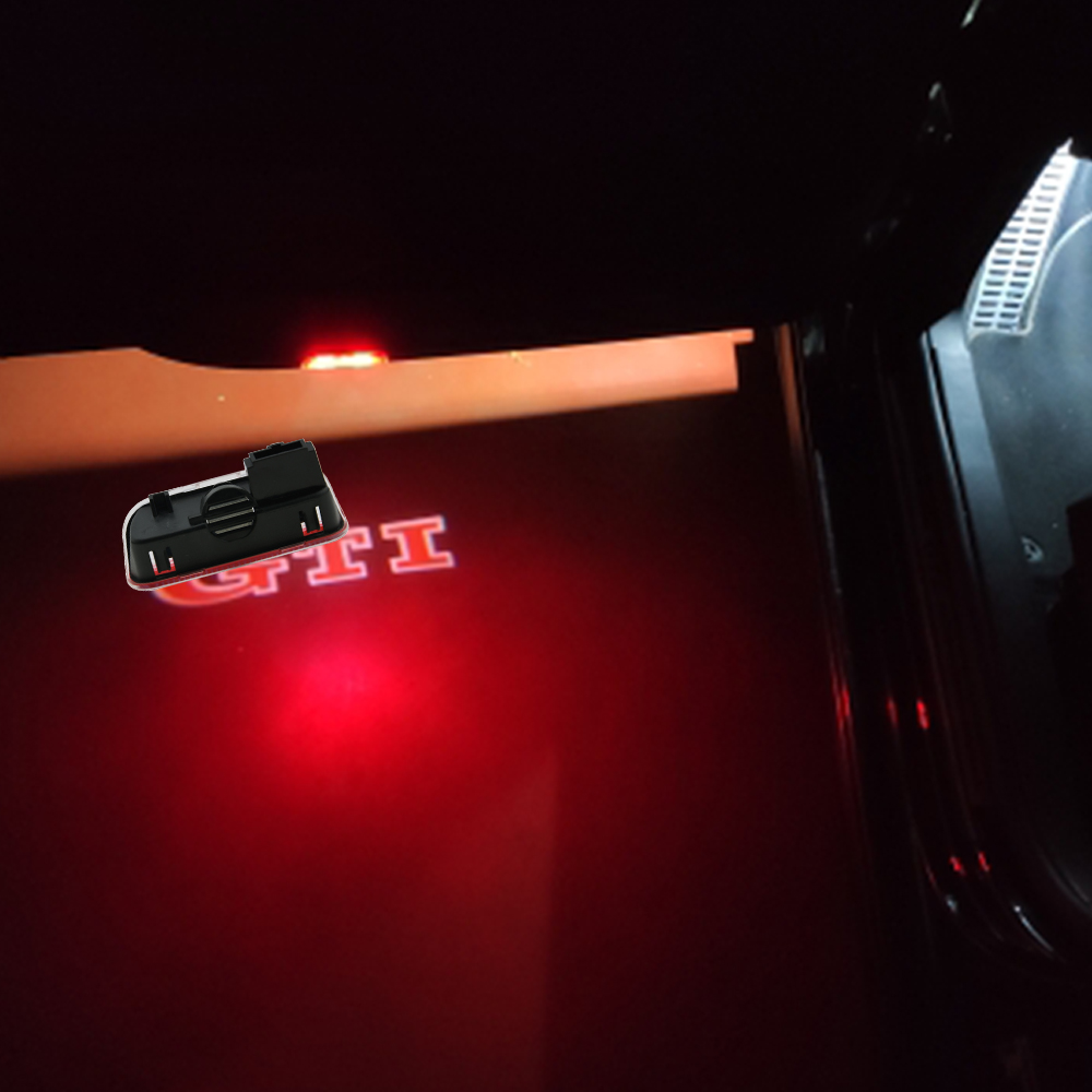2x Car Logo Door light LED Projector For <font><b>VW</b></font> Passat B6 B7 CC Tiguan Jetta MK5 MK6 <font><b>Golf</b></font> <font><b>5</b></font> 6 7 <font><b>GTI</b></font> Touareg Sharan Scirocco EOS image