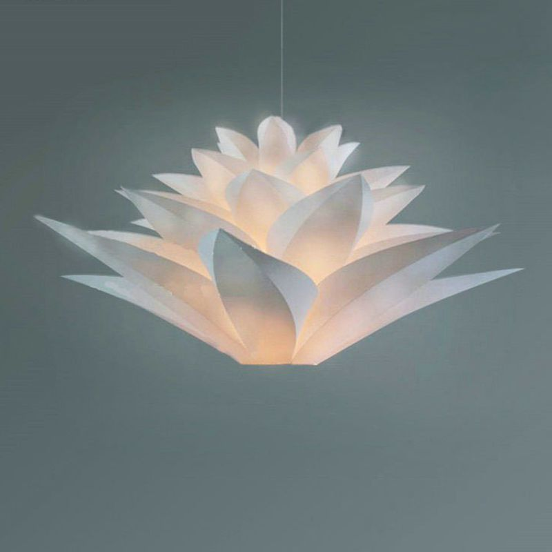 Nordic modern simple lotus LED lighting living room dining room rural creative personality staircase acrylic pinecone chandelier