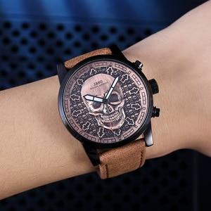 Image 5 - IBSO Brand Vintage Bronze Skull Watch for Men Creative Skull Sport Quartz Hours Male Wristwatch Clocks Hiphop relogios masculino