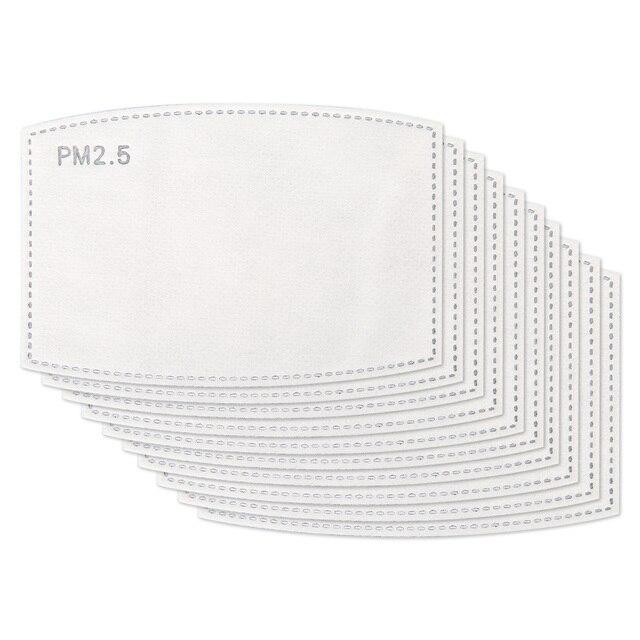 10-100 PCS PM2.5 Filter Paper Anti Haze Mouth Face Mask Flu Facial Anti Pm 25 Dust Masks Activated Carbon 1