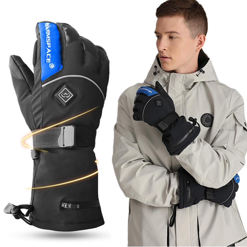 Heated Gloves Battery Powered Electric Heat Gloves Unisex Waterproof Winter Thermal Gloves Snow Gloves Men