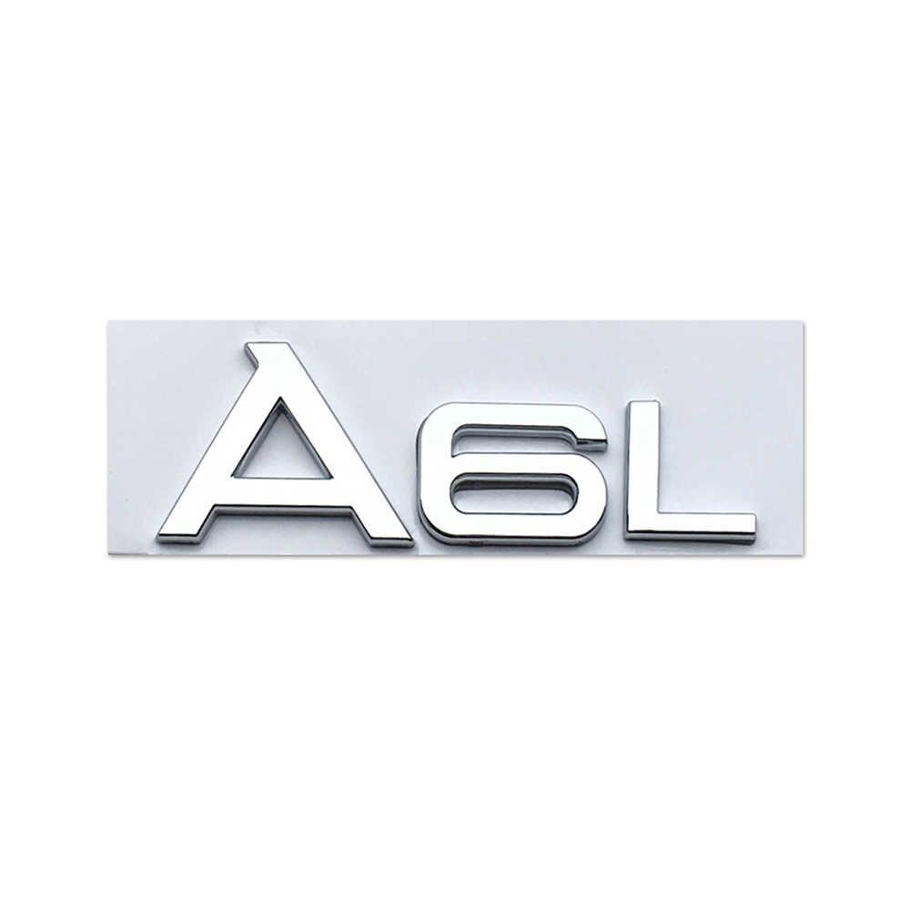 Dla Audi TFSI A3 A6 A6L A8L tabliczka znamionowa naklejka na bagażnik metalowe Logo dla Sline A5 A8 C7 B7 B8 SQ5 S5 RS4 Q3 RS7 RS8 S8 Car Styling