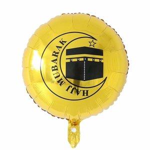 Image 3 - 10Pcs 18Inch Ronde Eid Mubarak Folie Ballonnen Paars Hadj Mubarak Decoraties Helium Ballon Ramadan Kareem Eid Al fitr Levert