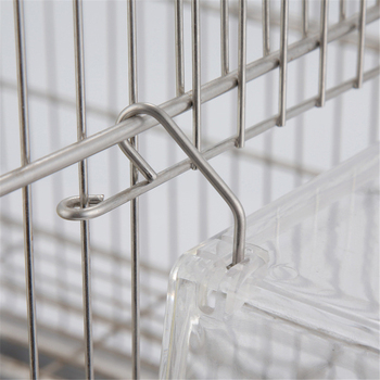220ml Automatic Bird Food Feeder Hanging Cage Water Drinker Transparent Acrylic Parrot House Feeding Tools for Mannikin Sparrow 4