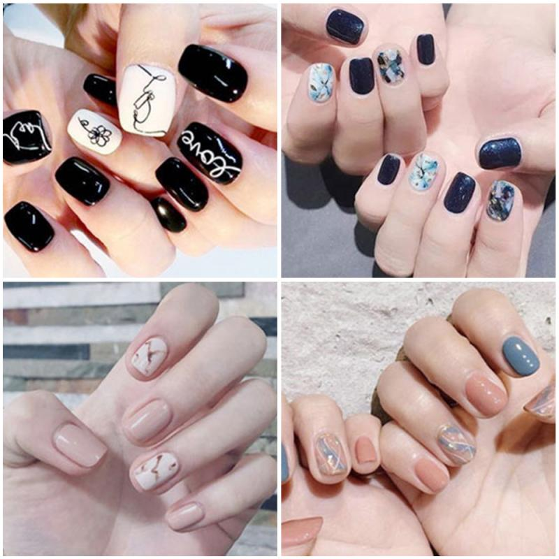 Creative Nail Decals Nail Sticker DIY Nail Patch Fashion Shiny Nail Glitter Portable Nail Stickers Professional Nail Decoration