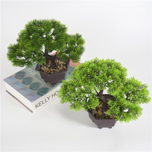 New Home Decoration Welcoming Pine Bonsai Simulation Decorative flowers and Wreaths Artificial Flowers Fake Green Pot Plants