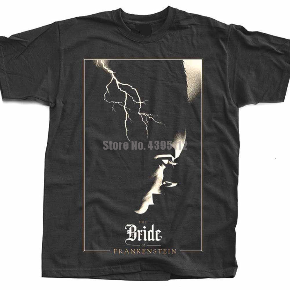 The Bride Of Frankenstein Movie Man'S Oversized Tshirts Band T Shirts Black Tshirt Branded T-Shirt Gift For A Man Axadja image