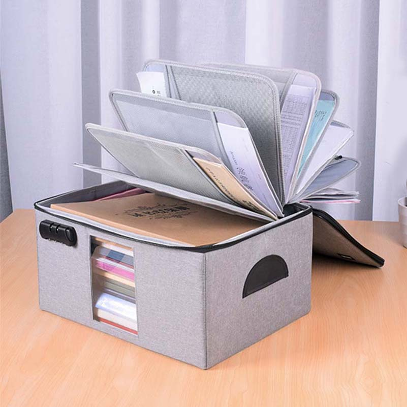 Hard Foldable Detachable Document Storage Bag Box Multifunction File Box Bag High Quality Large Capacity Document Orgnizer
