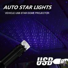 Светодиодный Ночной светильник на крышу автомобиля Звездный