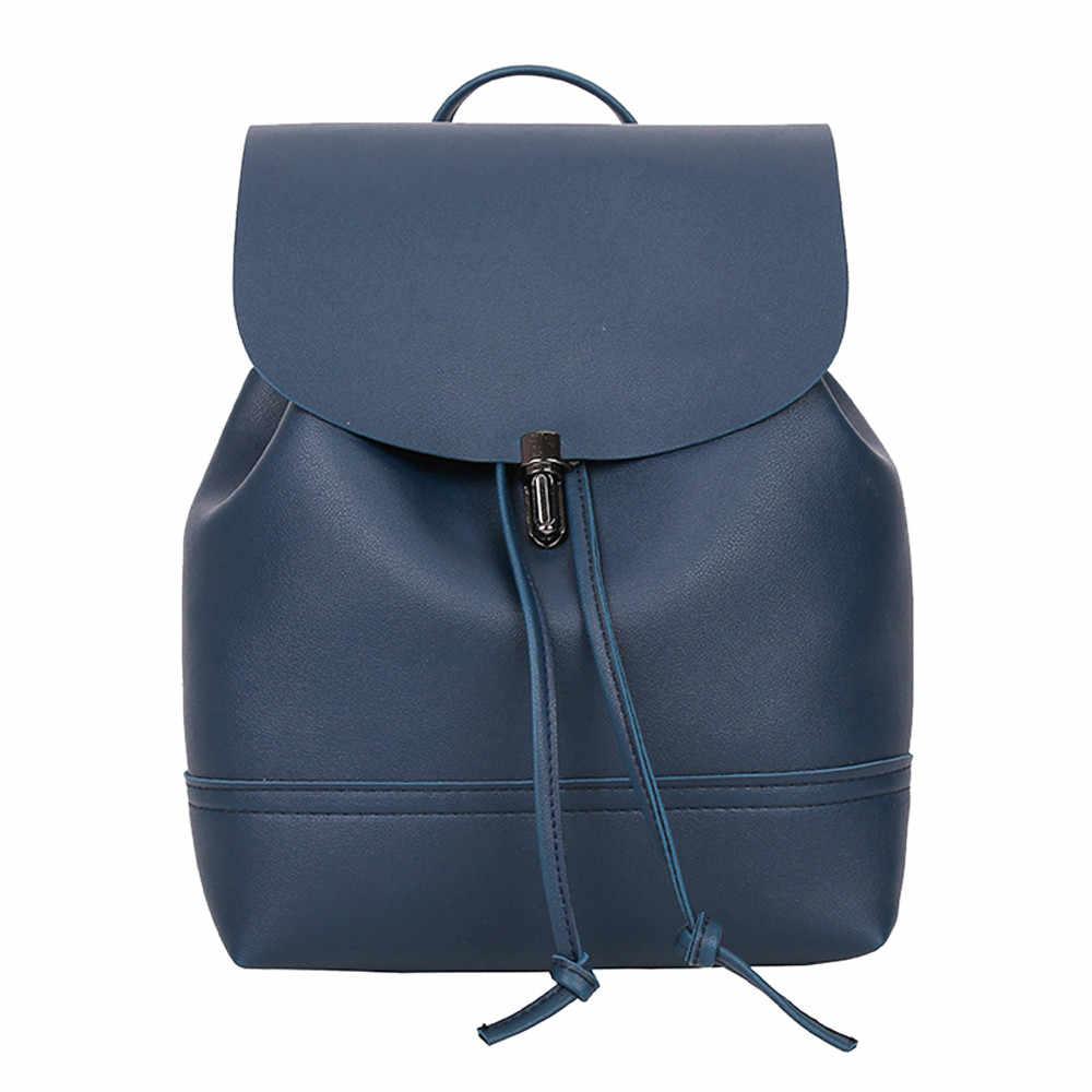 Maison Fabre frauen PU leder Rucksack Tasche Multi-zweck Dual-use-Brust Tasche Weiche Oval Magnetische schnalle reinen farbe Mutter Tasche 10 #