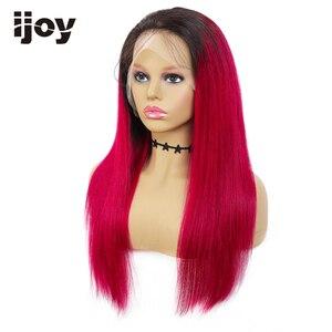Image 5 - 4x13 frente do laço perucas de cabelo humano ombre peruca de renda reta mel loira peruca de cabelo brasileiro para as mulheres pré arrancadas peruca não remy ijoy