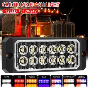 1Pc 12V/24V 12-LEDs Car Strobe