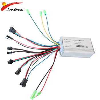Controlador eléctrico para bicicleta eléctrica sin escobillas, controlador eléctrico DC36V para adulto con controles LCD/LED de 250W/350W/500W