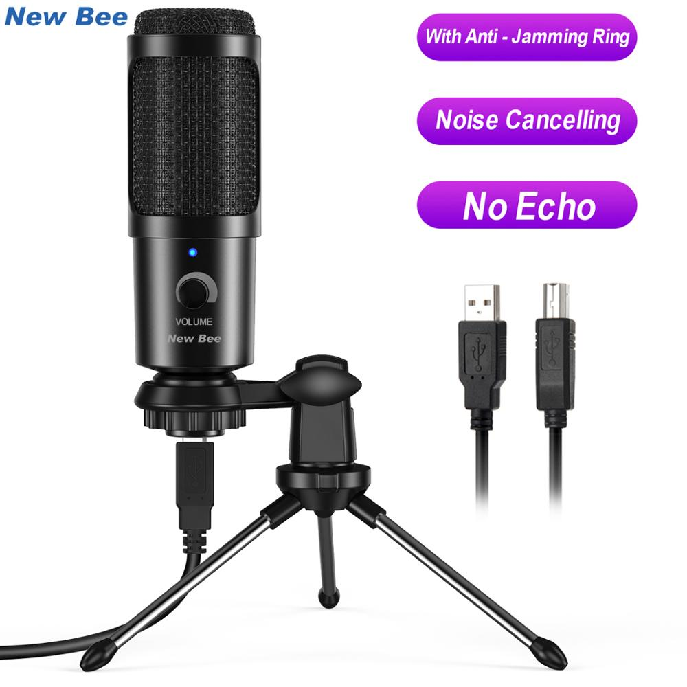 New Bee Condenser Microphone for PC Professional USB Microphone for Computer Laptop Gaming Streaming Recording Studio YouTube