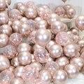 10 шт., 12-дюймовые серебристые и золотистые металлические шары