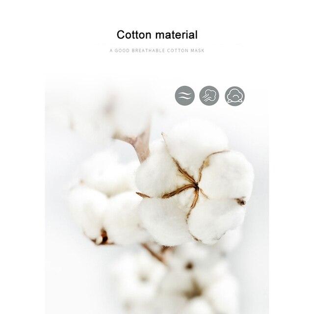 Cotton Mask Unisex PM2.5 Washable Face Masks Reusable Mouth Mask Breathable Masks Health Care Safe Breath Mask 3