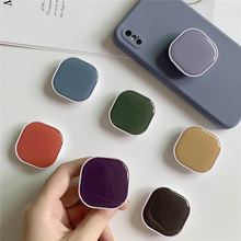 Cute Macaron Color Square Airbag Grip Phone Holder Stand For iPhone Samsung Huawei Xiaomi univeral phone finger bracket