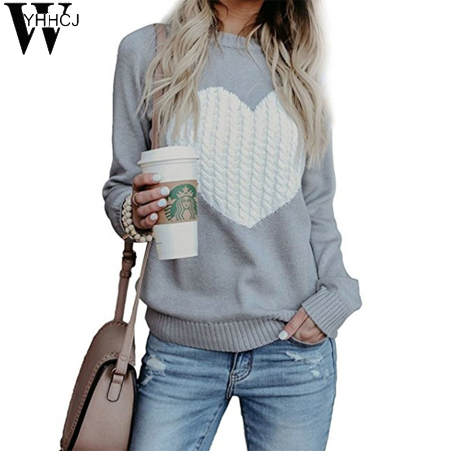 WYHHCJ  Women O Neck Pullover Sweater 2019 Autumn Winter Korean New Solid Basic Knitted Sweater Female Fashion Wild Knitwear