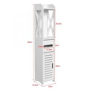 Image 4 - 80*15,5*15 см Ванная комната туалет для корпусной мебели белый деревянный шкаф полки для хранения стирального порошка шампунь ткани стеллаж для хранения