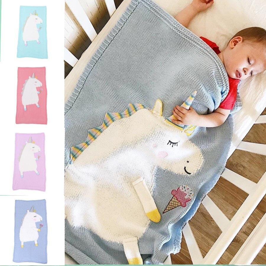 Bebek örme karikatür polar battaniye kundak yeni doğan çocuk Boys kız Pram pamuk kış sıcak uyku tulumu moda aksesuarları