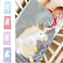 Baby Knitted Cartoon Fleece Blanket Swaddle New born Kids Boys Girl Pram Cotton Winter Warm Sleeping Bags Fashion Accessories