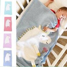 Manta de lana tejida con dibujos animados para bebé, edredón para recién nacidos, niño y niña, algodón, sacos de dormir calientes, accesorios de moda