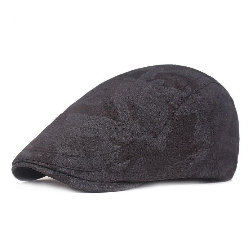 Мужская и женская хлопковая камуфляжная шляпа для гольфа, для вождения, кепка, плоская кепка, повседневная Кепка Утконос, шапка для вождения, 10,7 - Цвет: BK