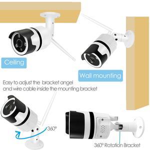 Image 5 - 8CH אודיו דיבור HD אלחוטי LCDNVR ערכת P2P 1080P מקורה חיצוני IR ראיית לילה אבטחה 2.0MP IP המצלמה WIFI טלוויזיה במעגל סגור מערכת