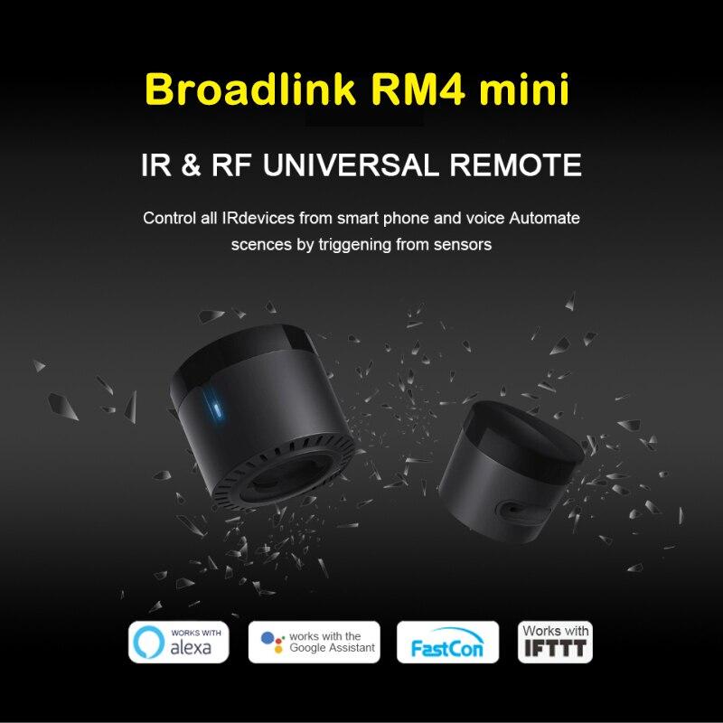 Broadlink RM4 mini Bestco 4C mini WiFi IR RF пульт дистанционного управления с поддержкой кондиционера TV box Amazon alexa и EU, не EU, универсальный|Модули для умного дома|   | АлиЭкспресс