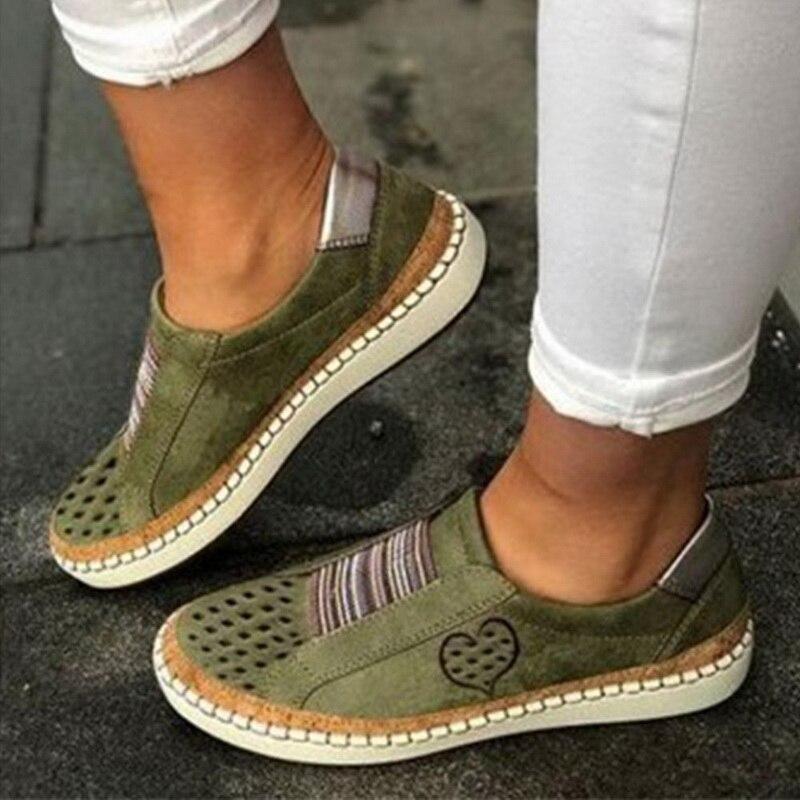 Экспресс-; женская обувь; повседневная обувь из вулканизированной кожи; кроссовки; женские удобные слипоны; лоферы на плоской подошве; zapatos mujer; Прямая поставка - Цвет: green 2