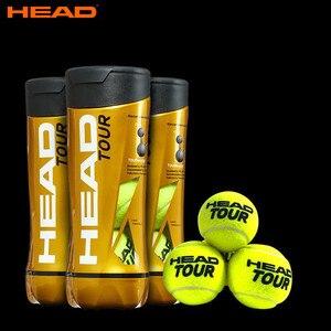 Original HEAD Tennis Balls Competition Training Tennis Balls Elastic Resistance HEAD TOUR Tennis Ball 3 Pcs For 1 Tank Tenis