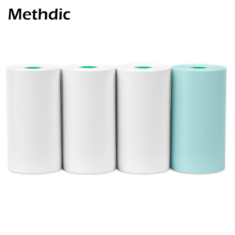 4-Rolls/Set 57*30Mm Thermal Paper Roll White Printable Sticker Paper