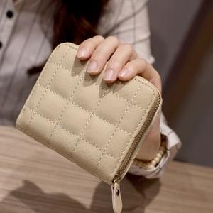 2020 Korean Version of Mini Wallet Coin Purse Female Wallet PU Fashion Ladies Wallet Short Zipper Cute Student Short Embroidered