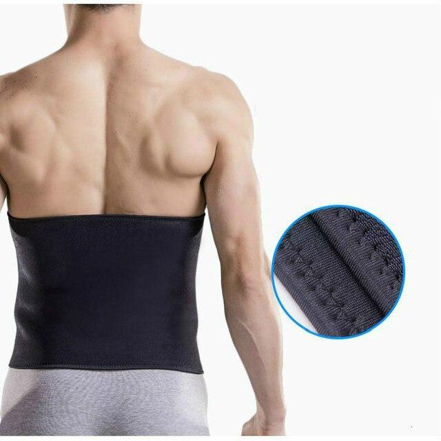 Fitness Sports Waist Support Belt Bodybuilding Sweat Belt Shaper Abdomen Back Lumbar Brace Waist Trainer Corset Slimming Trimmer 2