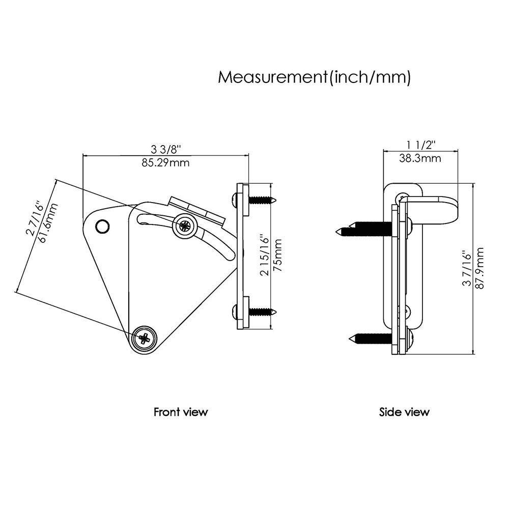 Stainless Steel Pocket Door Latch Lock Shed Door Privacy Lock Sliding Barn Door Hardware