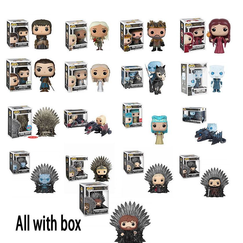 FUNKO POP GAME OF THRONES  BRAN STARK OLENNA TYRELL TYRION LANNISTER Night's King Jon Snow Daenerys Targaryen Drogon Vinyl Dolls