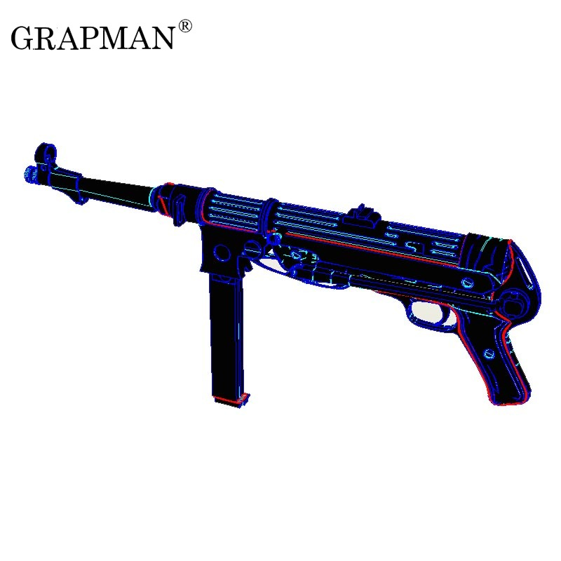1:1 MP38 MP40 Submachine Gun 3D Paper Model DIY Handmade Papercraft