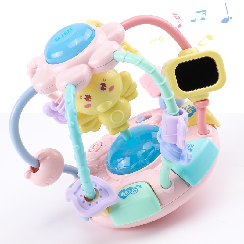 Music Rattle Baby Toys Hand Rattle Newborn Baby Educational Early Childhood Teether 0-3-6 Month Aged 1-2 Years