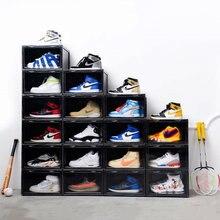 2020 модная пластиковая прозрачная коробка для обуви толстые